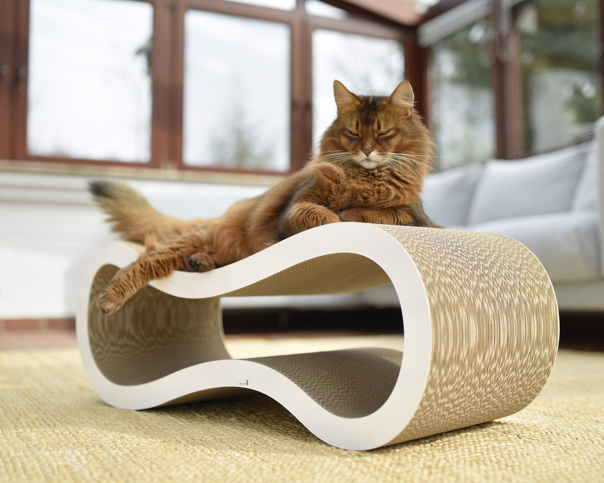 Kratzmöbel für Katzen Singha Large - multifunktionales Kratzmöbel für Katzen aus fsc-zertifizierter Kratzpappe Made in Germany