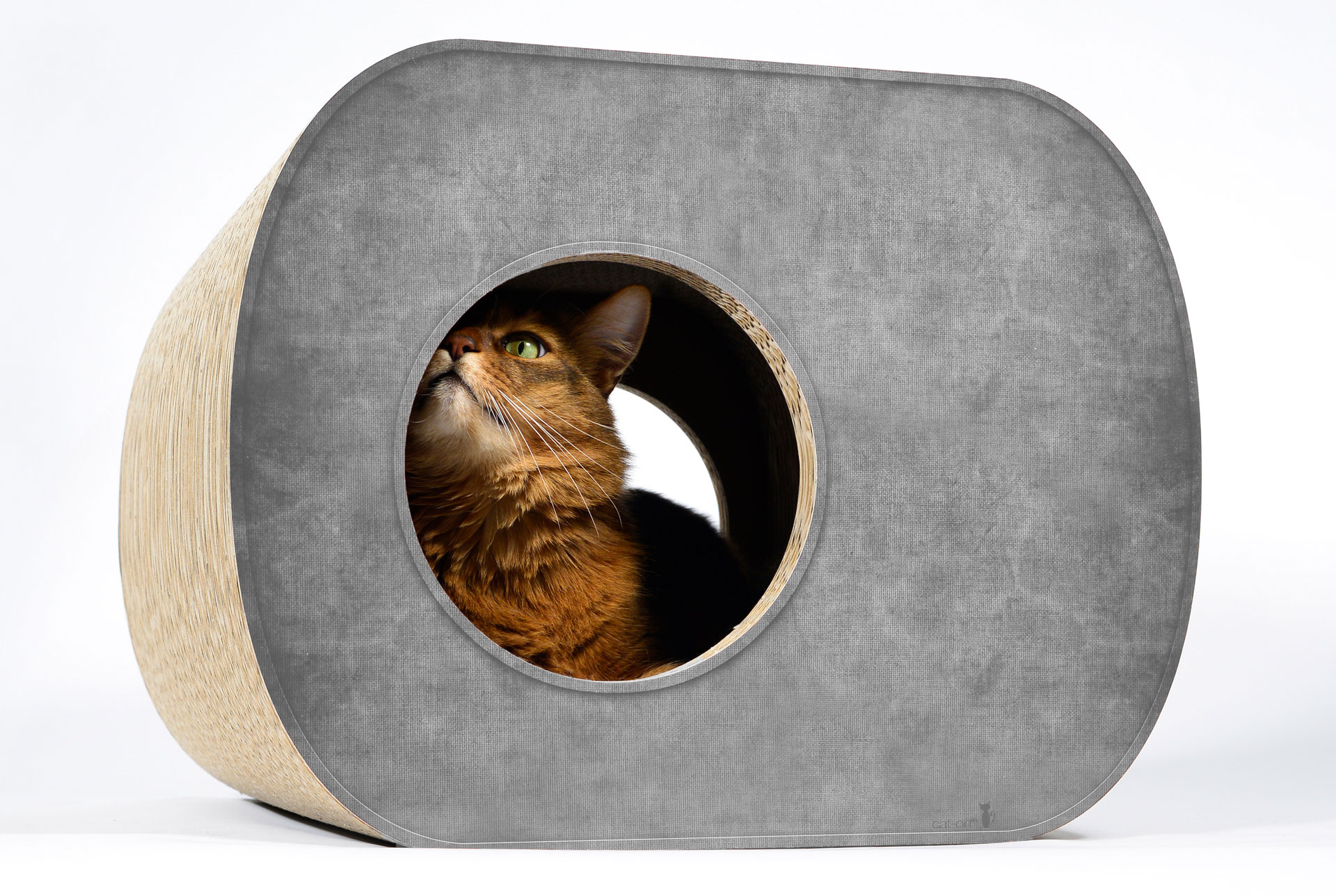 Kratzpappe Brochhaus Junior | Katzenhöhle aus Wellpappe in elegantem Design
